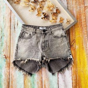 One Teaspoon High Waist Bonita Frayed Shorts 27
